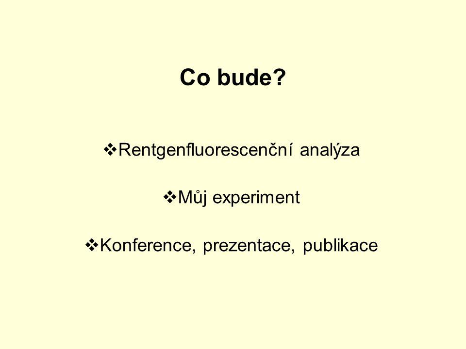 Co bude Rentgenfluorescenční analýza Můj experiment