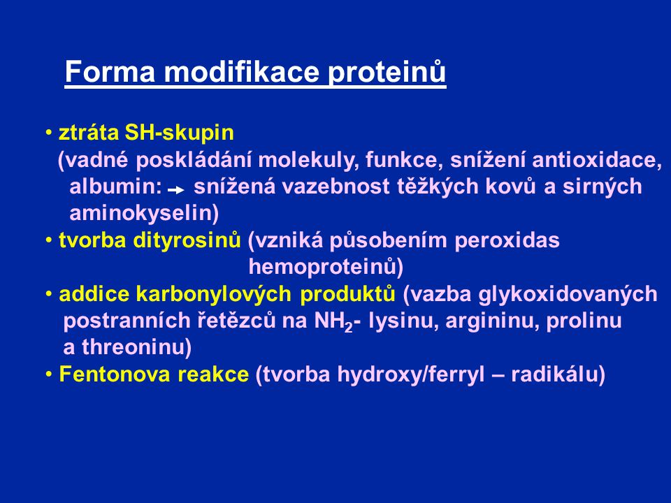 Forma modifikace proteinů