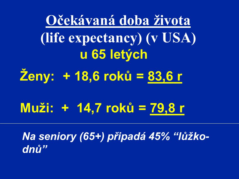 (life expectancy) (v USA)
