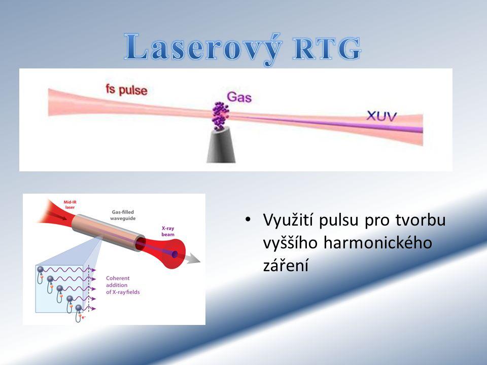 Laserový RTG Využití pulsu pro tvorbu vyššího harmonického záření