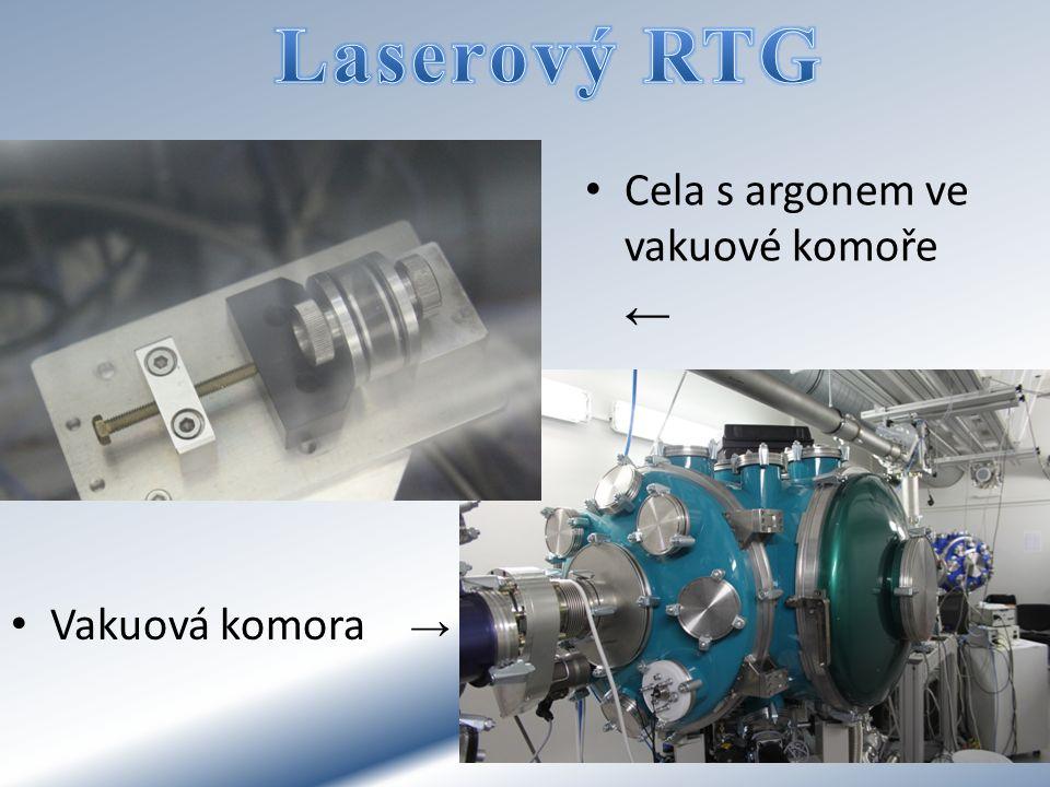 Laserový RTG Cela s argonem ve vakuové komoře ← Vakuová komora →