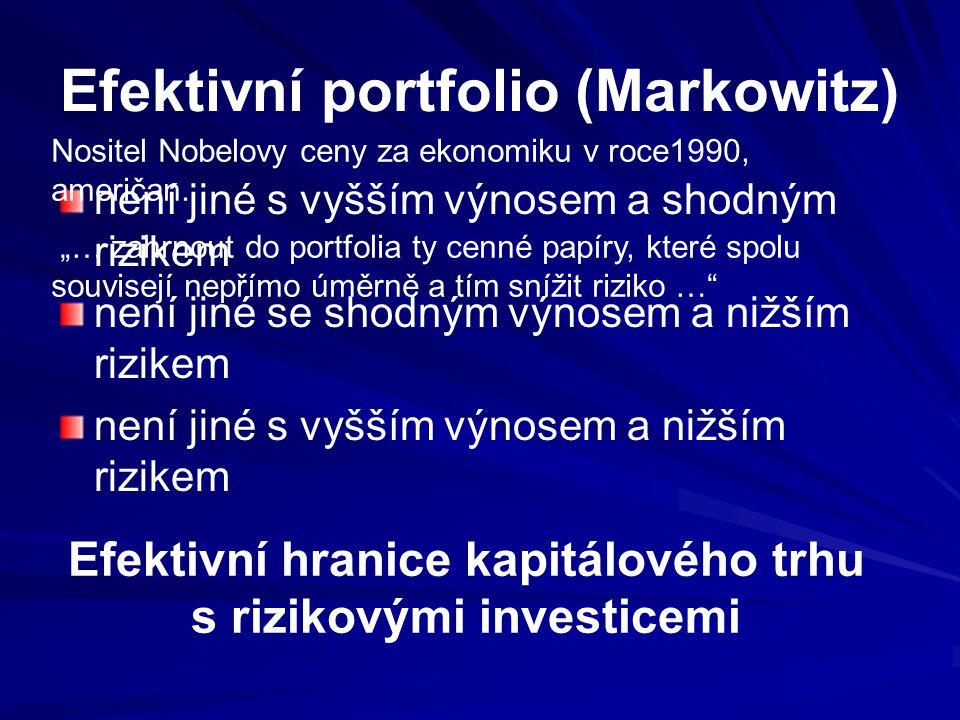 Efektivní portfolio (Markowitz)