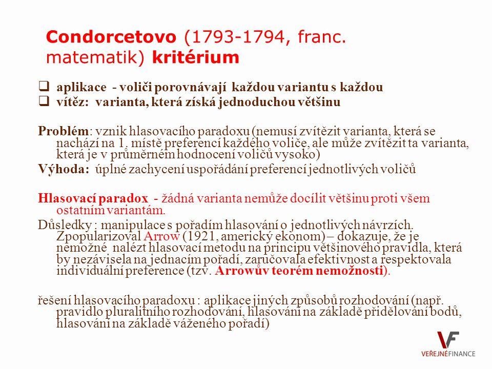 Condorcetovo (1793-1794, franc. matematik) kritérium
