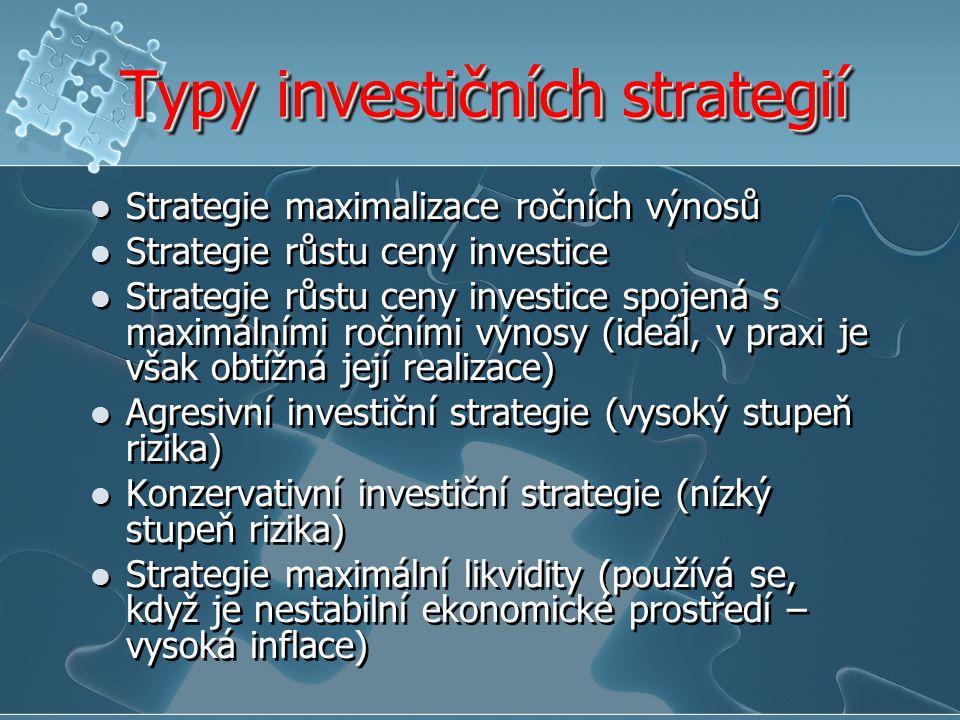 Typy investičních strategií