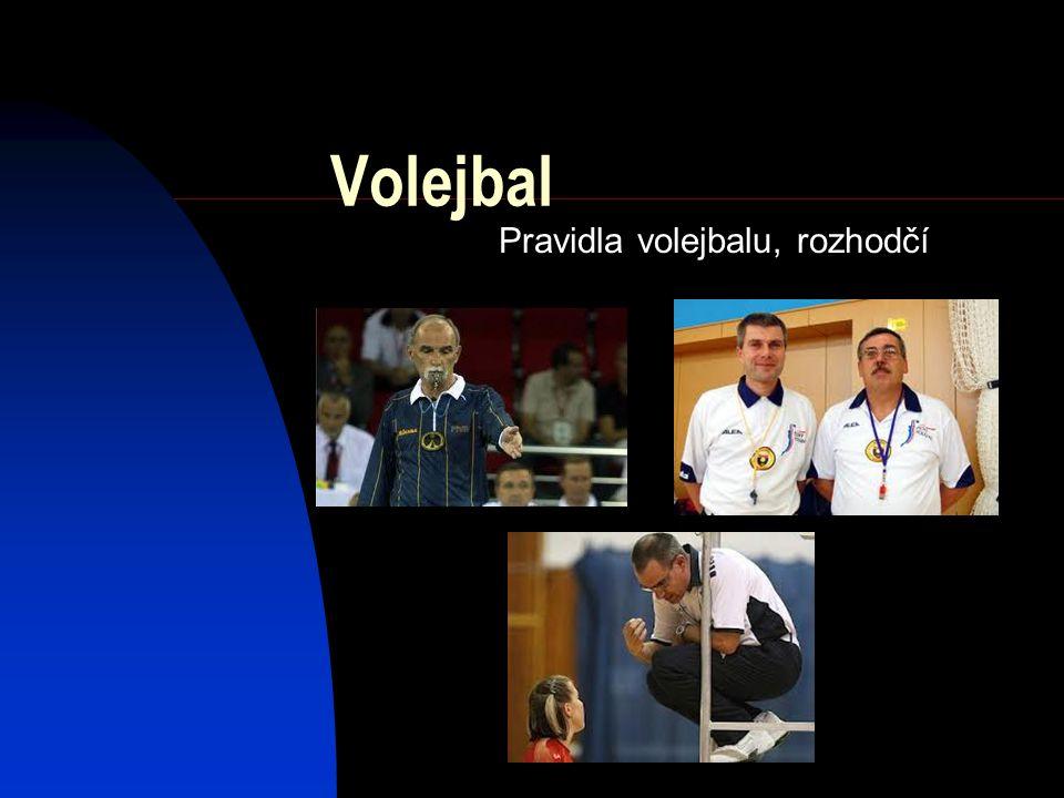 Pravidla volejbalu, rozhodčí