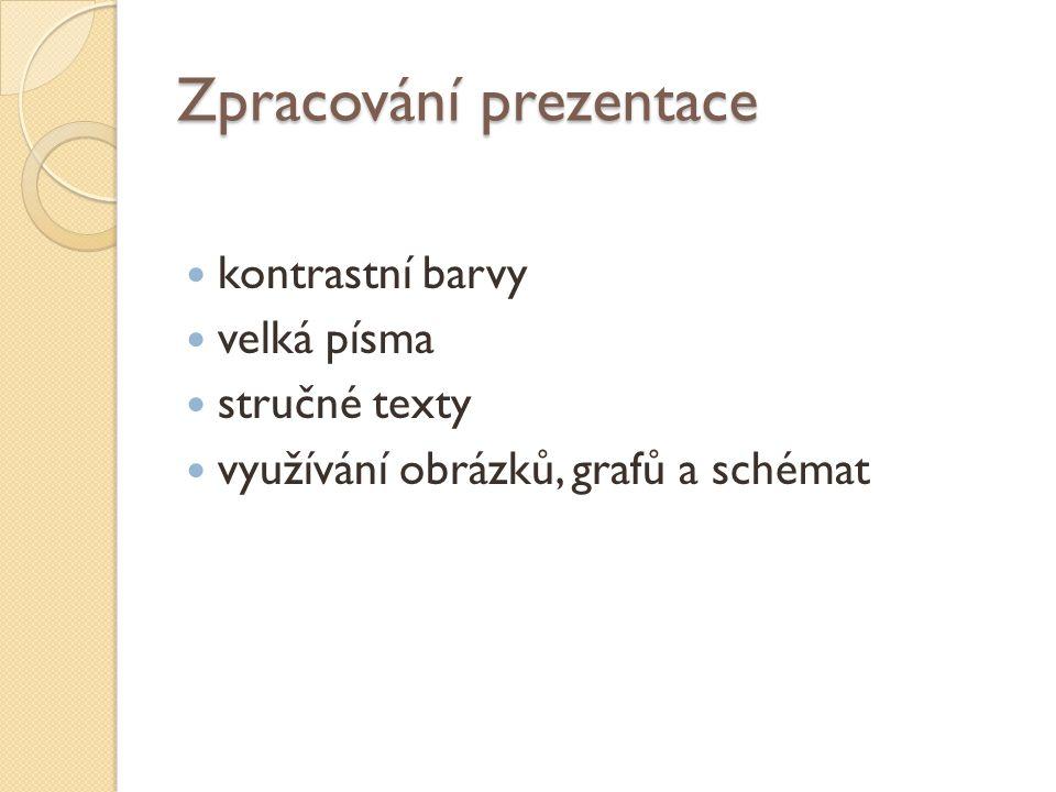 Zpracování prezentace