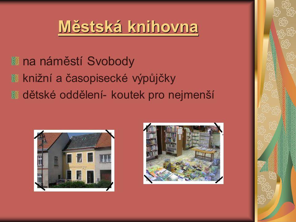 Městská knihovna na náměstí Svobody knižní a časopisecké výpůjčky