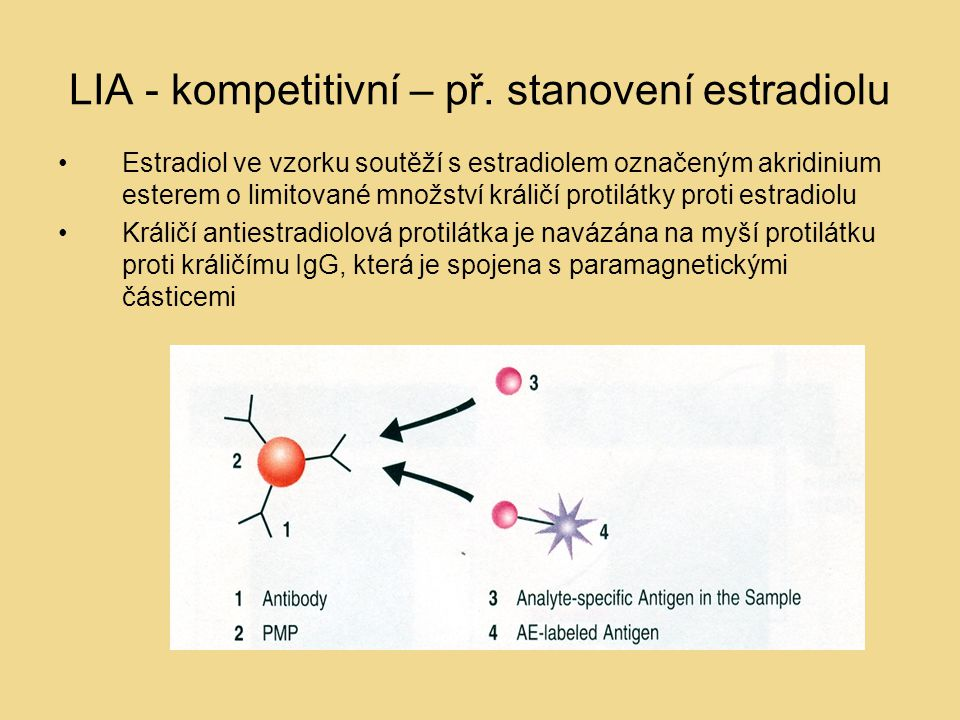 LIA - kompetitivní – př. stanovení estradiolu