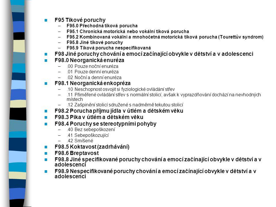F98.1 Neorganická enkopréza