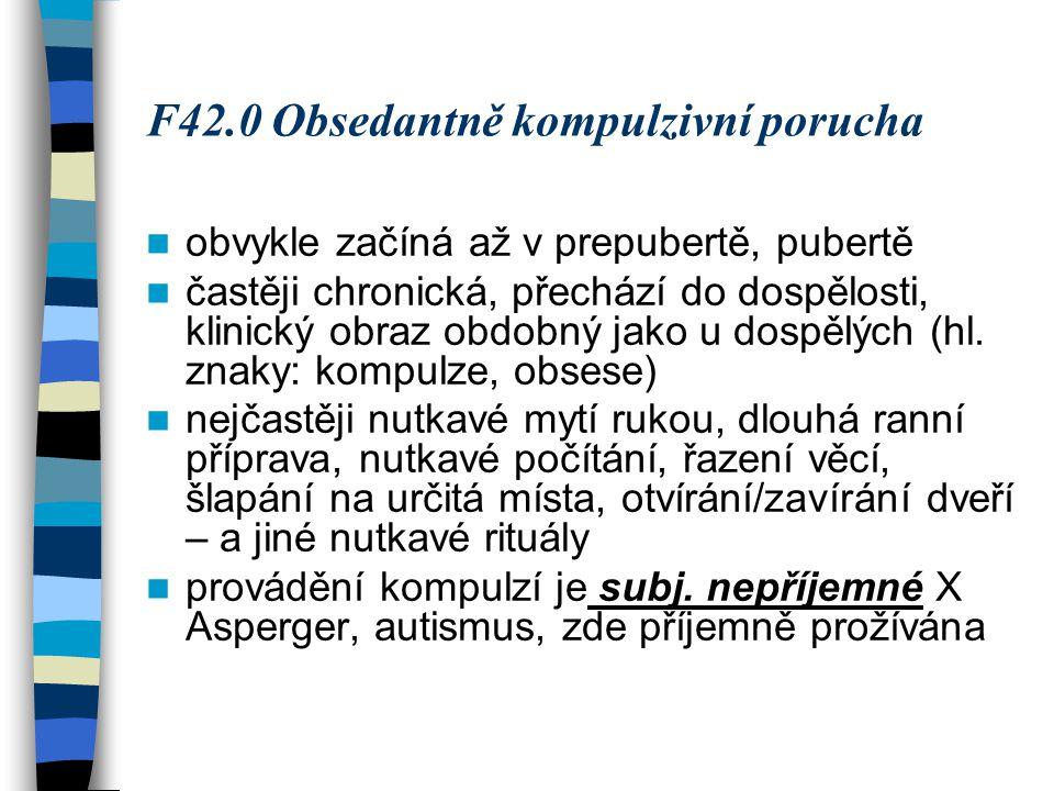 F42.0 Obsedantně kompulzivní porucha