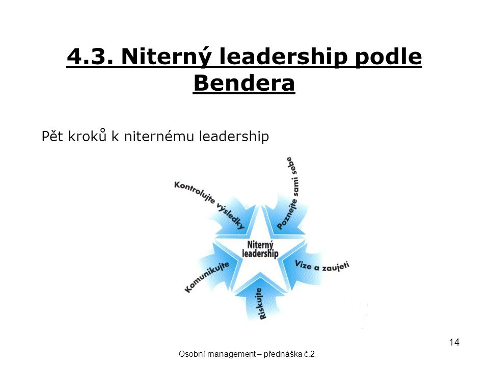 4.3. Niterný leadership podle Bendera