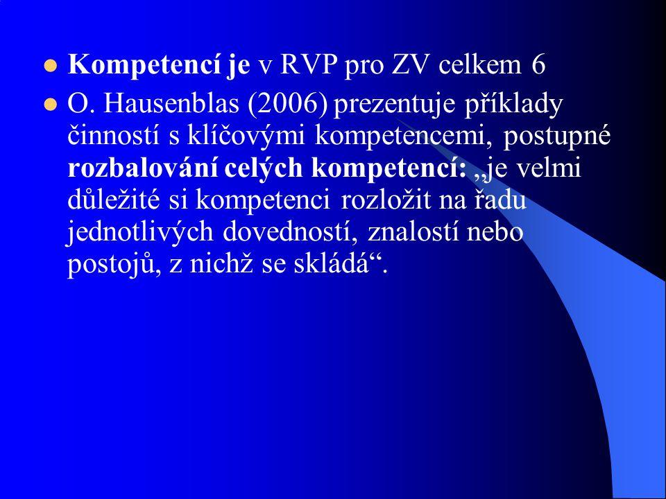 Kompetencí je v RVP pro ZV celkem 6