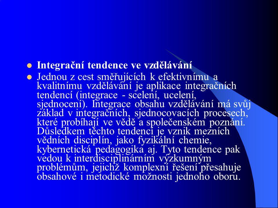 Integrační tendence ve vzdělávání