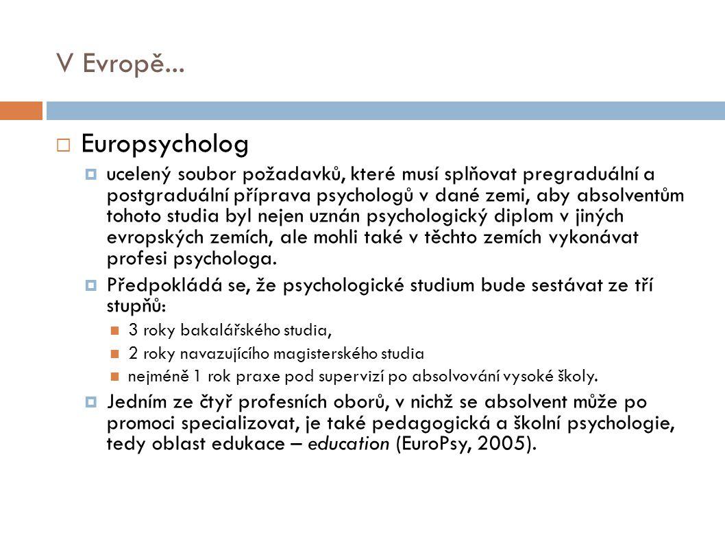 V Evropě... Europsycholog