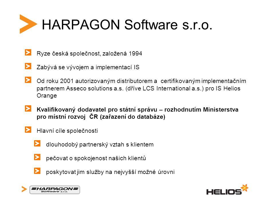 HARPAGON Software s.r.o. Ryze česká společnost, založená 1994