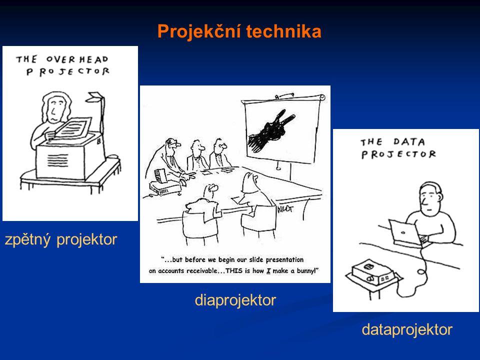 Projekční technika zpětný projektor diaprojektor dataprojektor