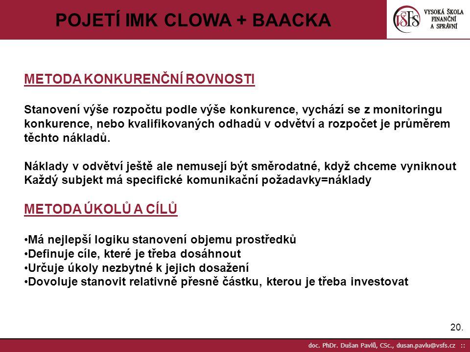 POJETÍ IMK CLOWA + BAACKA