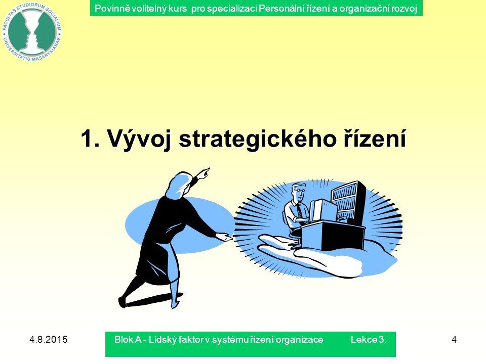 1. Vývoj strategického řízení