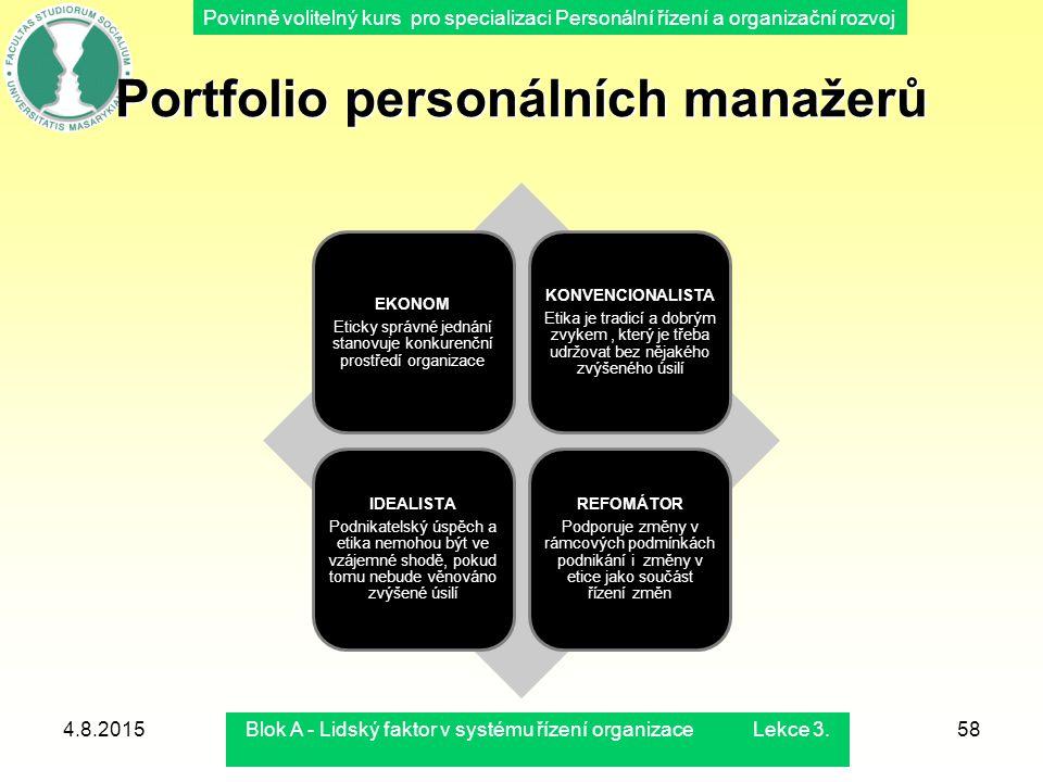 Portfolio personálních manažerů