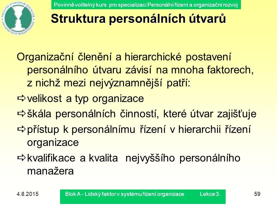 Struktura personálních útvarů