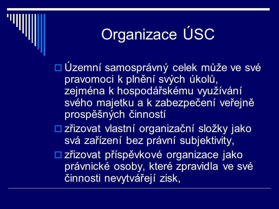 Organizace ÚSC