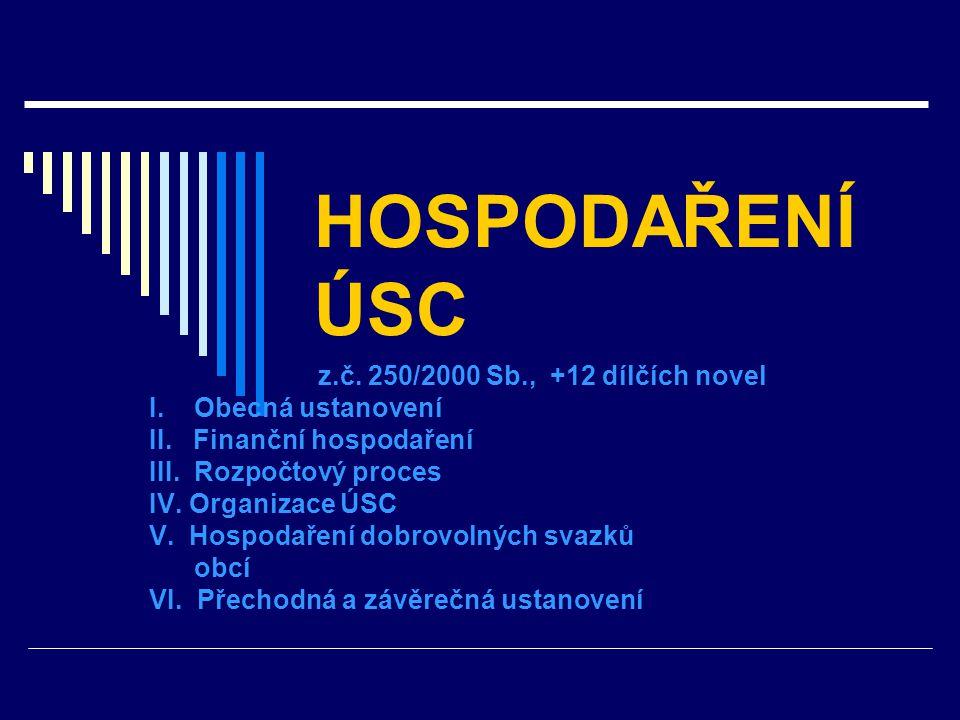 HOSPODAŘENÍ ÚSC z.č. 250/2000 Sb., +12 dílčích novel