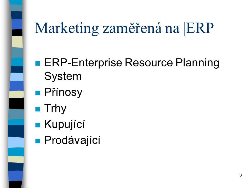 Marketing zaměřená na |ERP