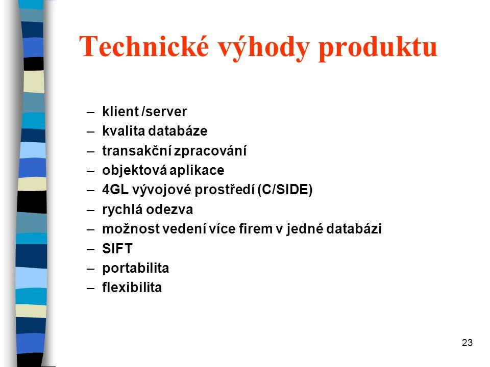 Technické výhody produktu