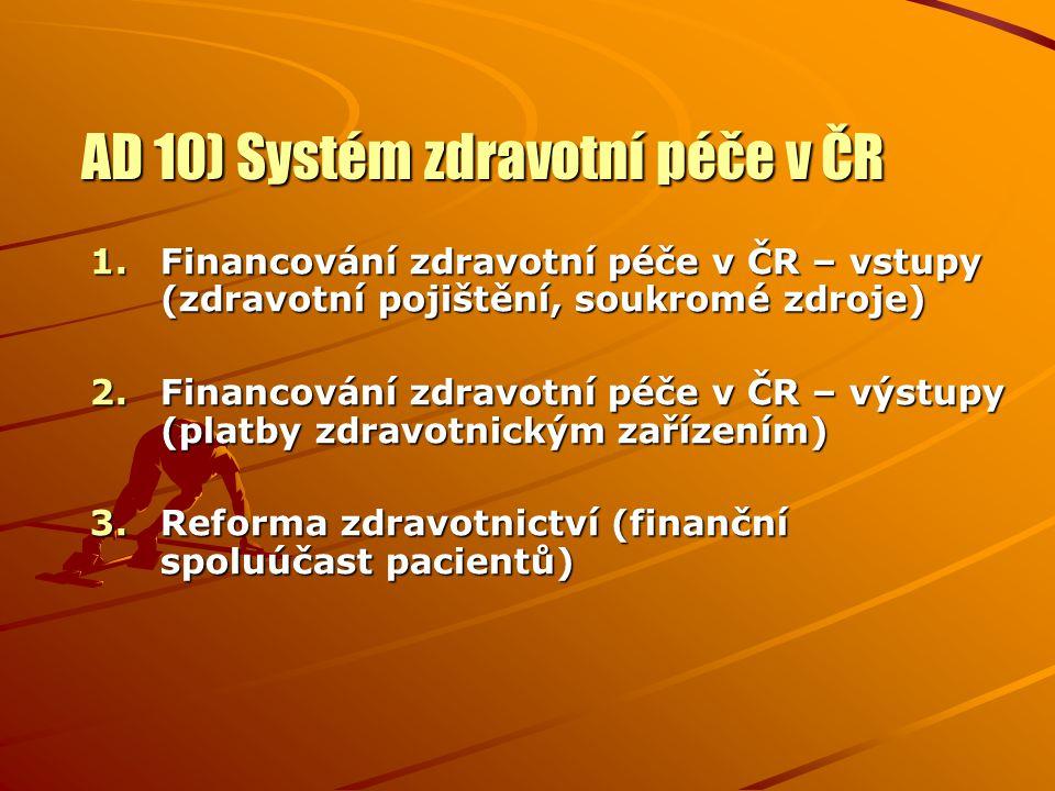 AD 10) Systém zdravotní péče v ČR