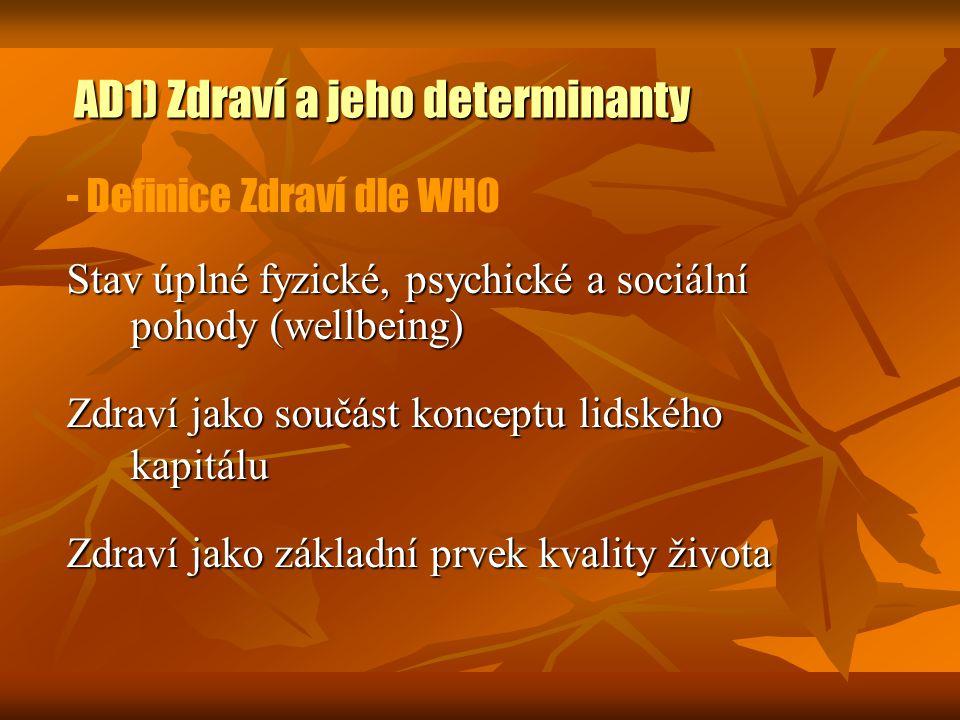AD1) Zdraví a jeho determinanty