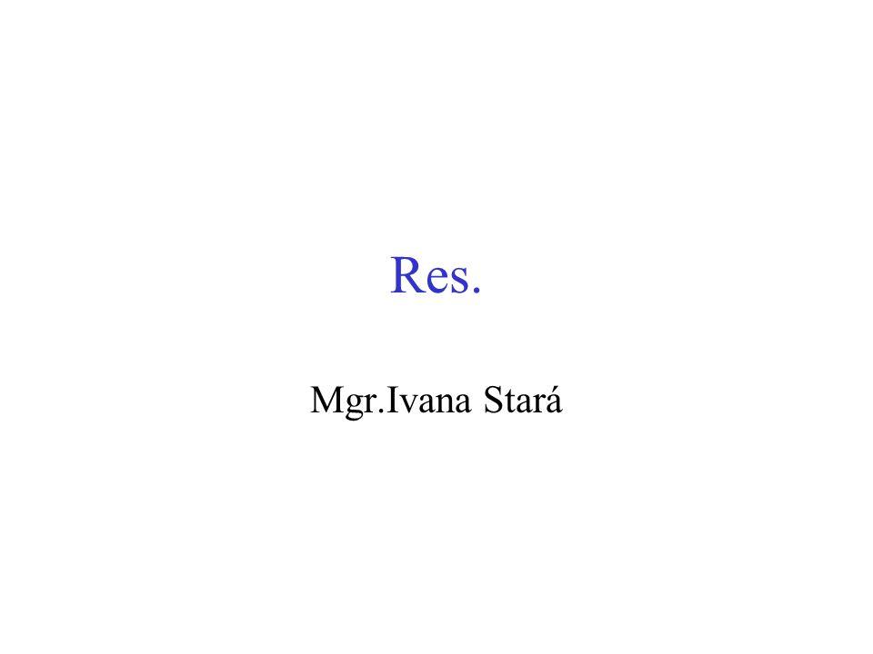 Res. Mgr.Ivana Stará