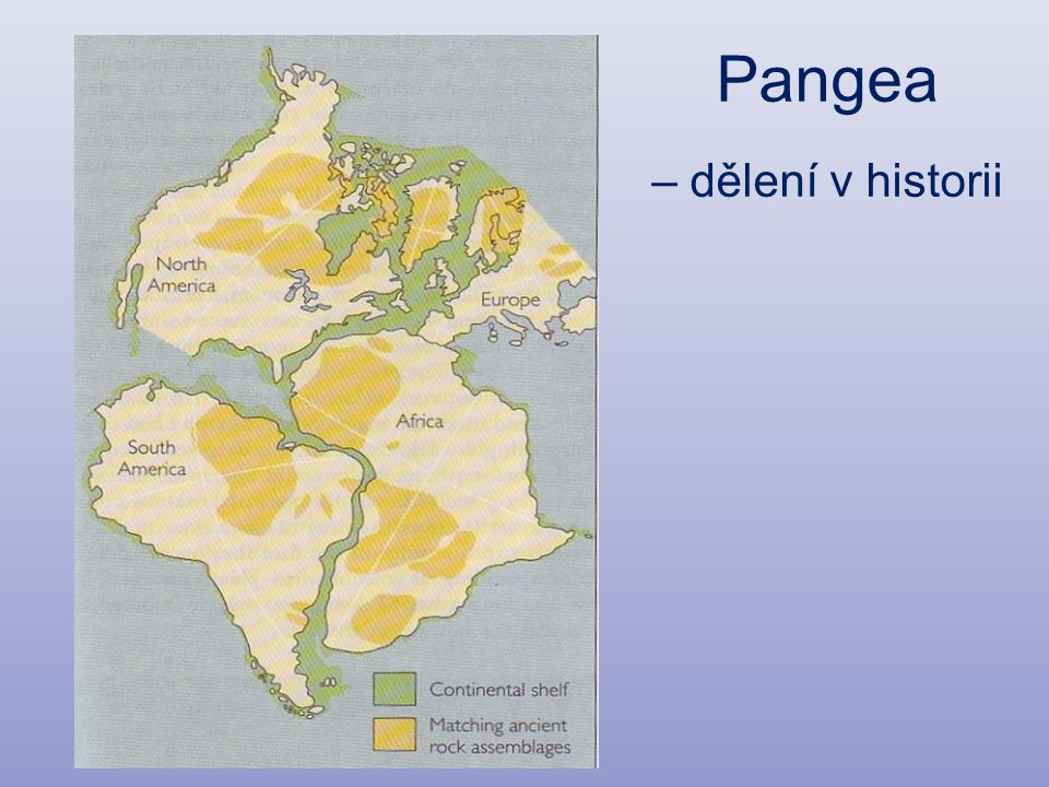 Pangea – dělení v historii