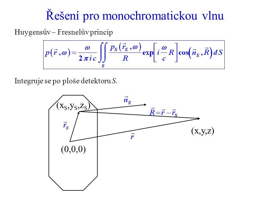 Řešení pro monochromatickou vlnu