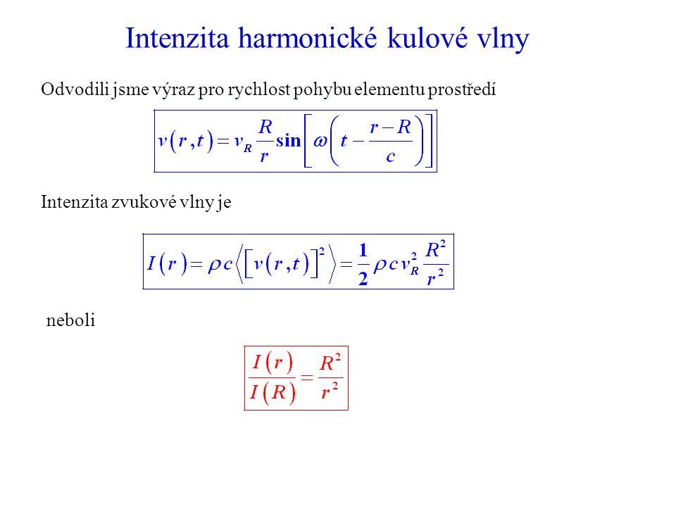 Intenzita harmonické kulové vlny