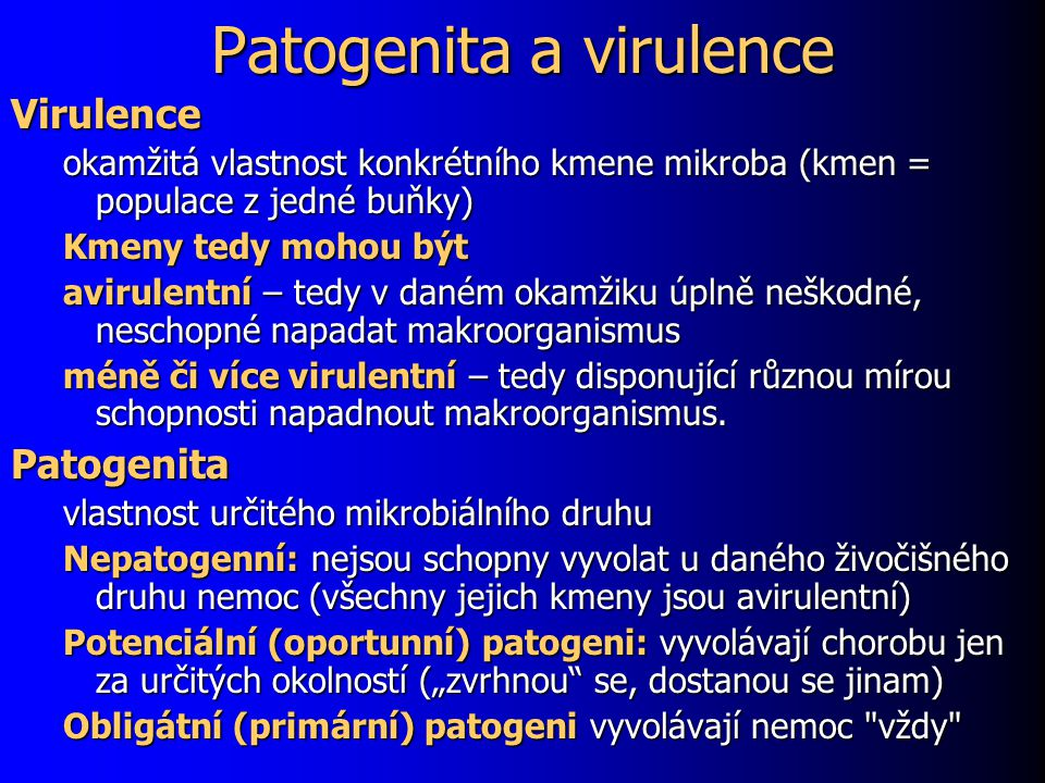 Patogenita a virulence