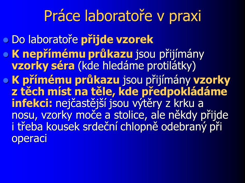 Práce laboratoře v praxi