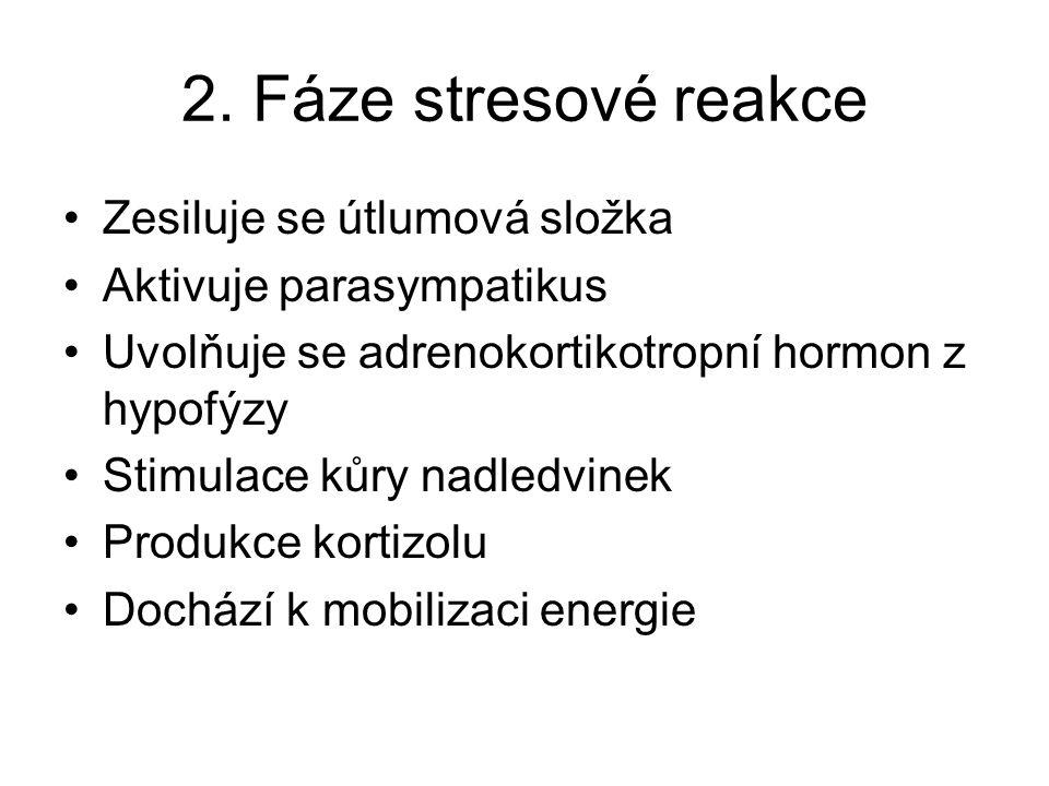2. Fáze stresové reakce Zesiluje se útlumová složka