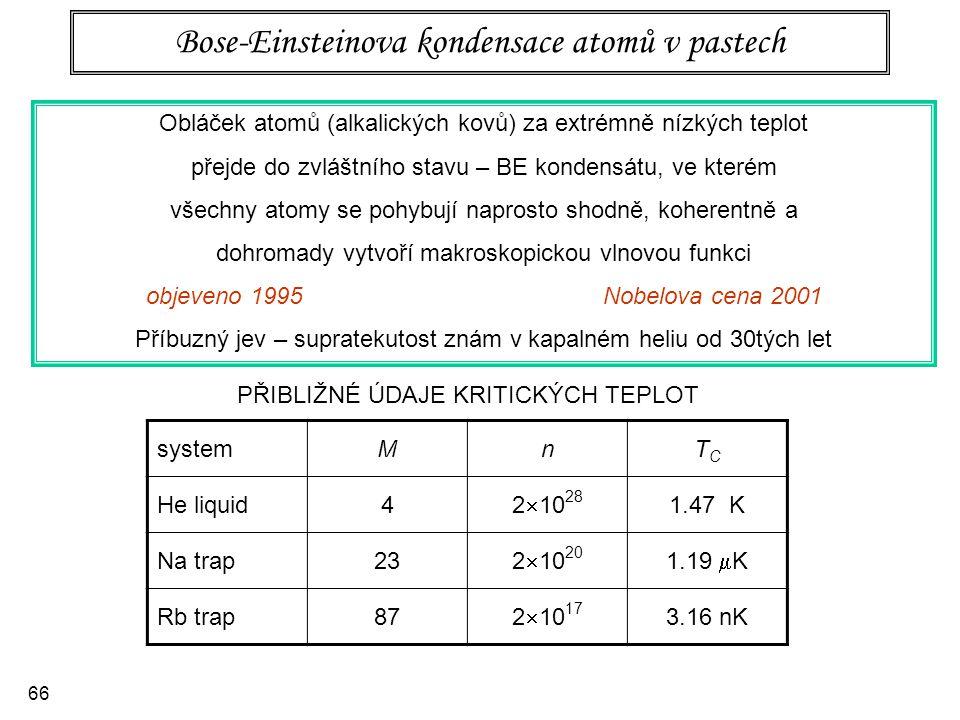 Bose-Einsteinova kondensace atomů v pastech