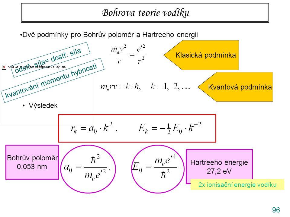 2x ionisační energie vodíku