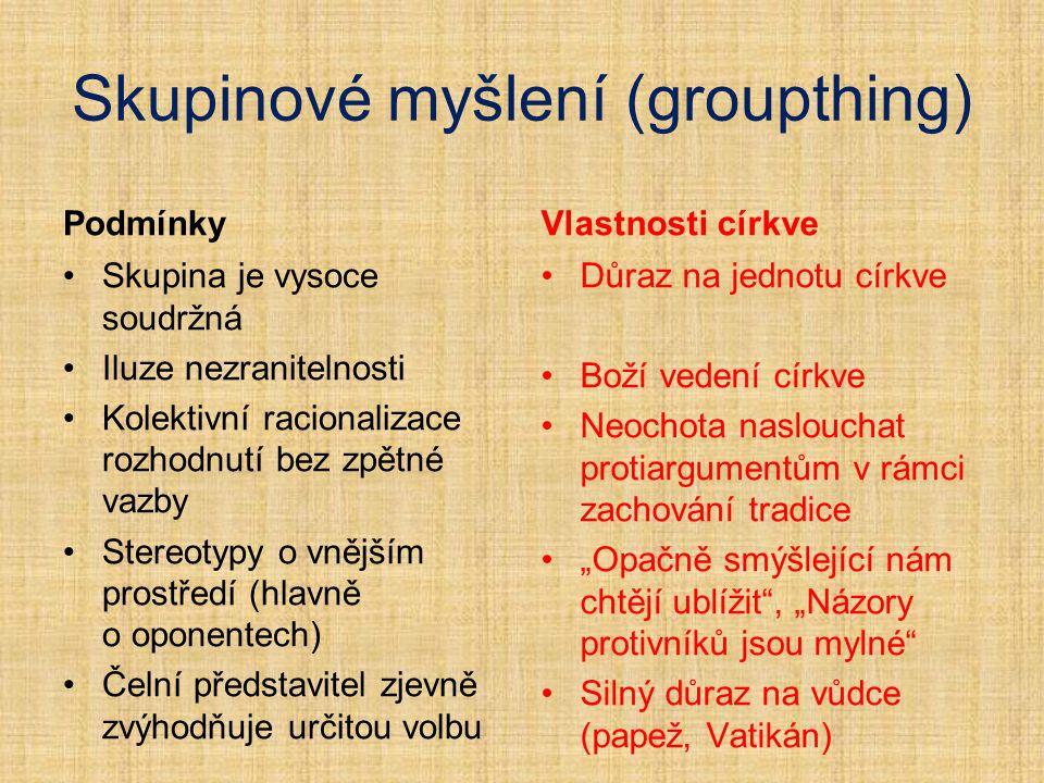 Skupinové myšlení (groupthing)