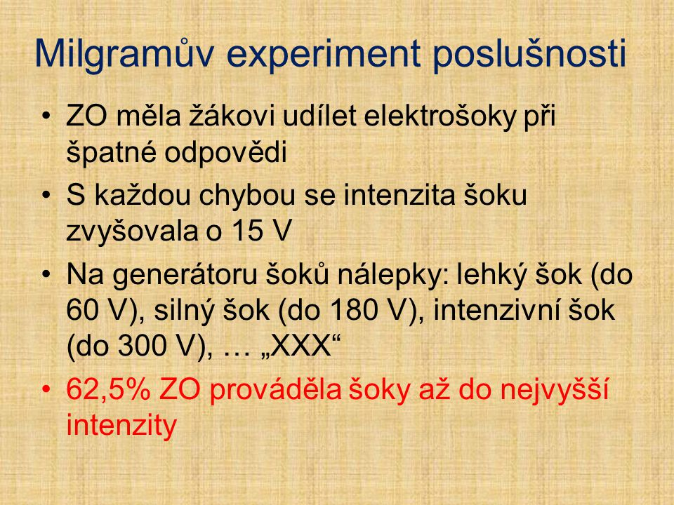 Milgramův experiment poslušnosti