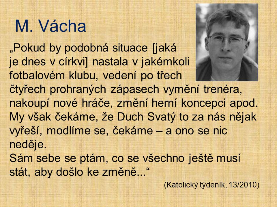 M. Vácha