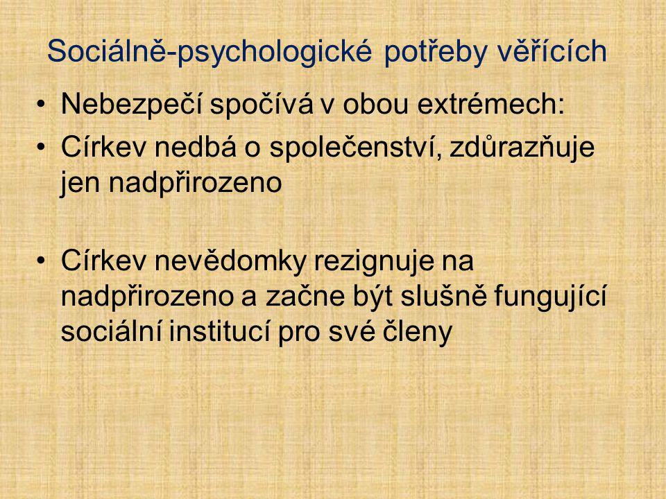Sociálně-psychologické potřeby věřících