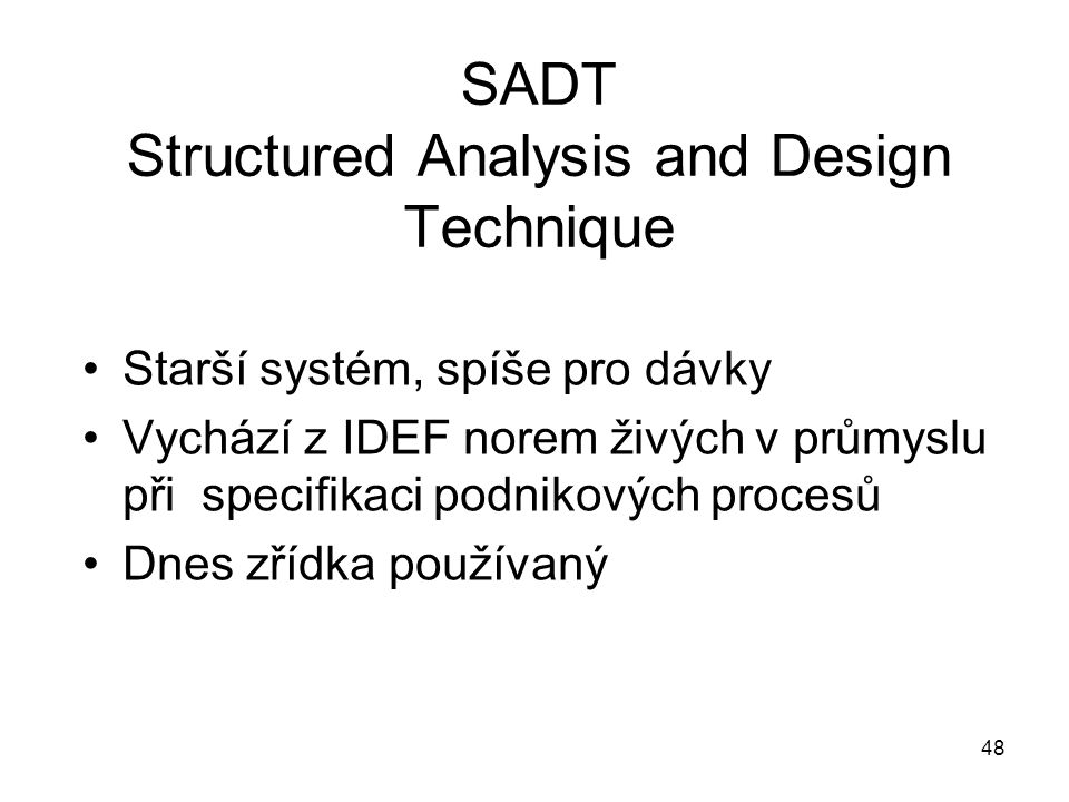 SADT Structured Analysis and Design Technique