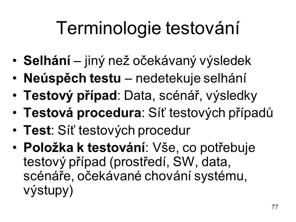 Terminologie testování