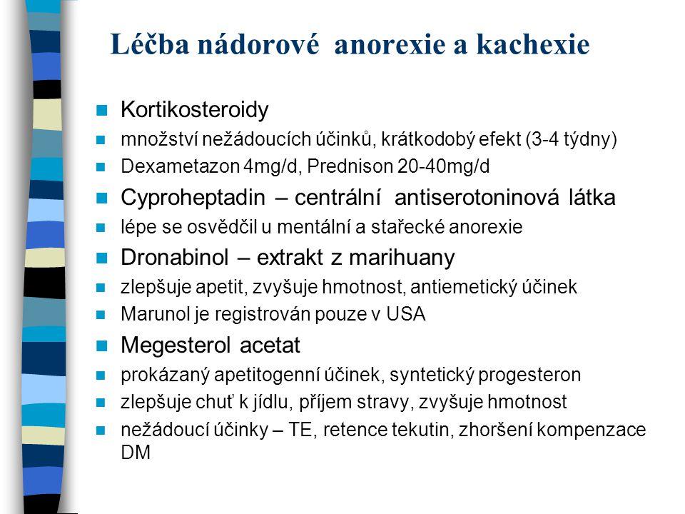 Léčba nádorové anorexie a kachexie