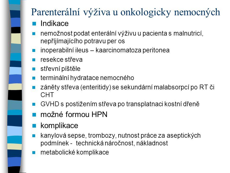 Parenterální výživa u onkologicky nemocných