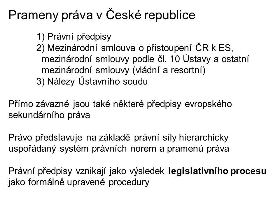 Prameny práva v České republice