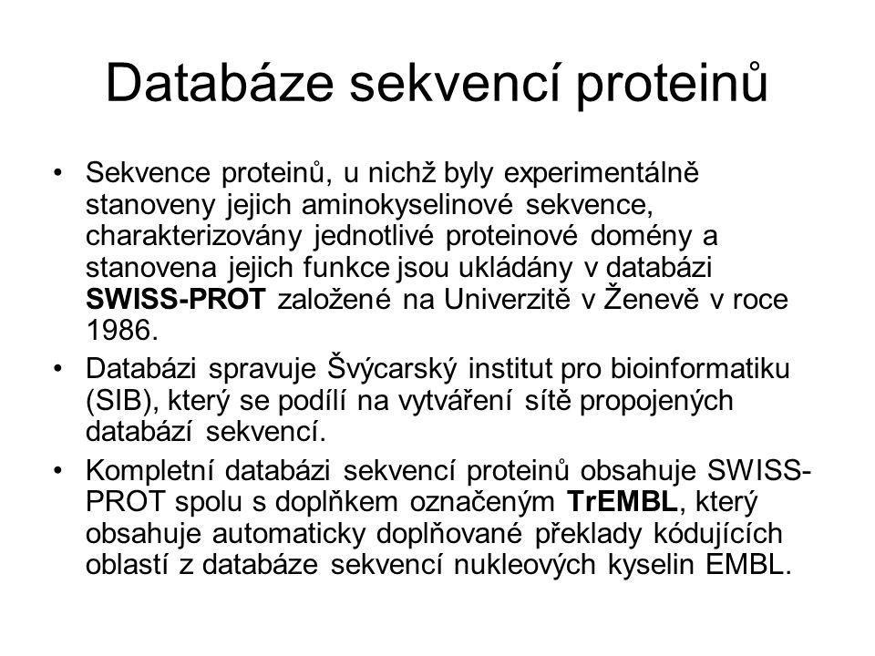 Databáze sekvencí proteinů