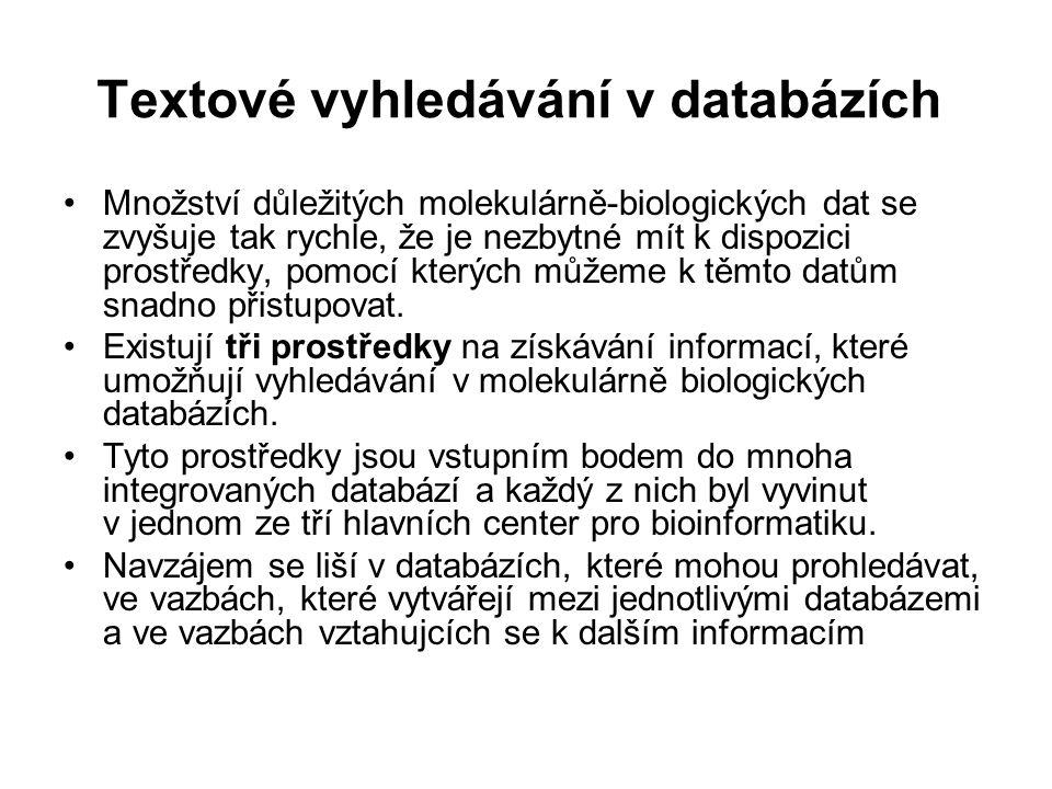 Textové vyhledávání v databázích